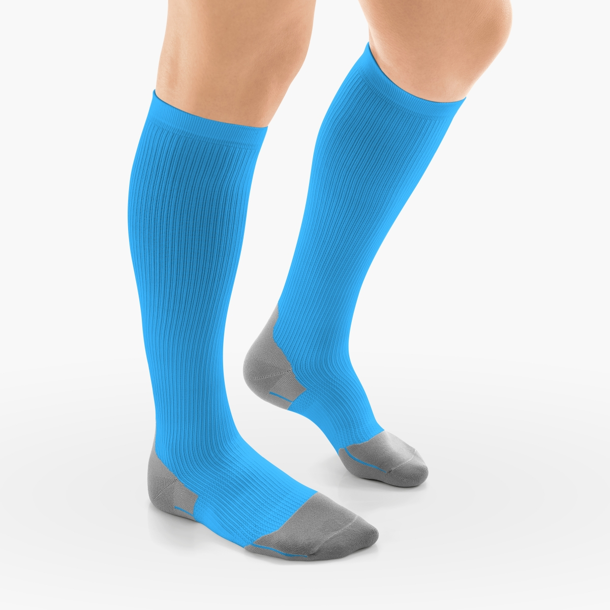 VENOSAN Athletic, Below Knee 20-30, Aqua, S, Closed Toe Firm 20-30 mmHg | Aqua | S |  | Closed Toe | Knit Top