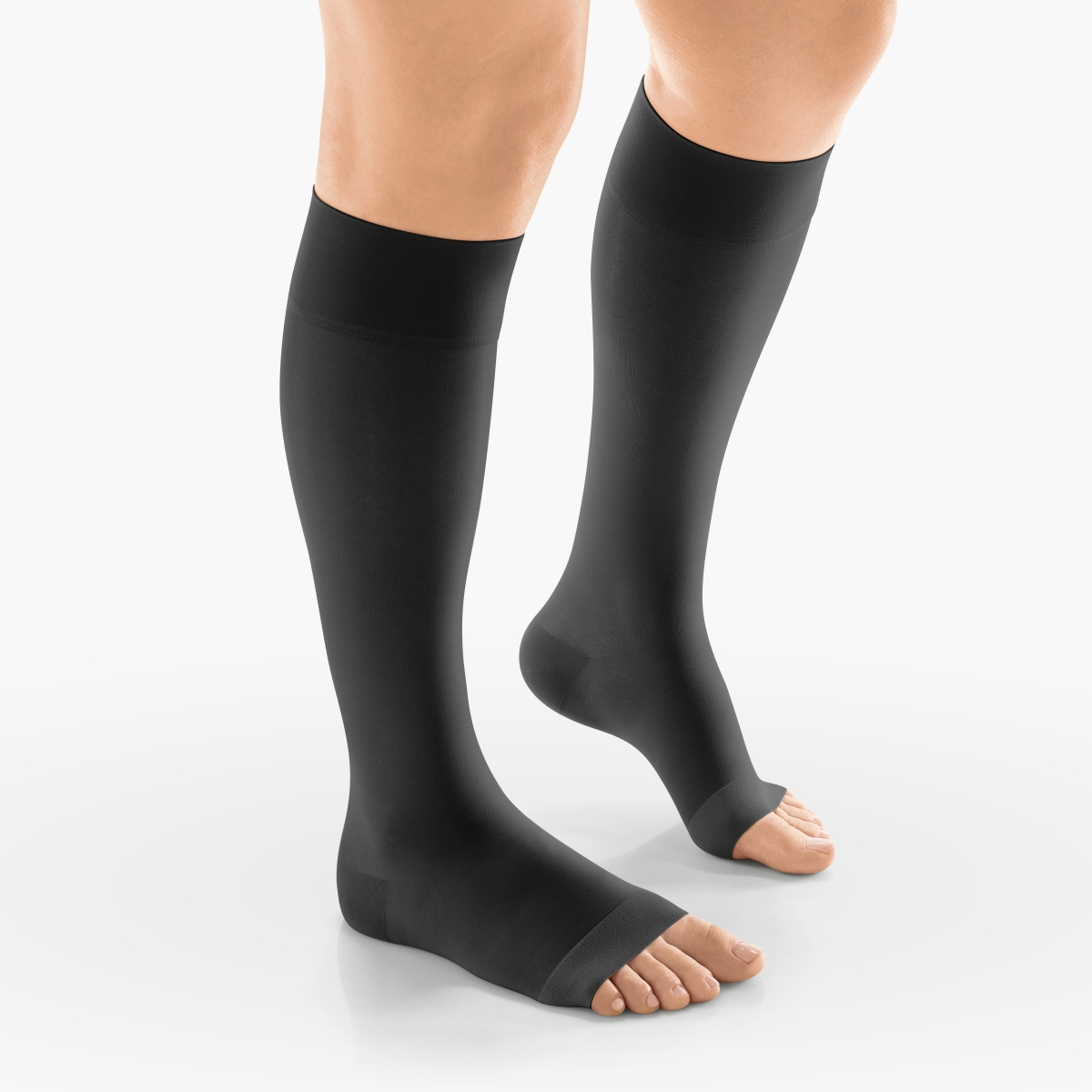 VENOSAN Sheer Secrets, Below Knee 15-20, Classic black, S, Open Toe Moderate 15-20 mmHg | Classic black | S |  | Open Toe | Knit Top