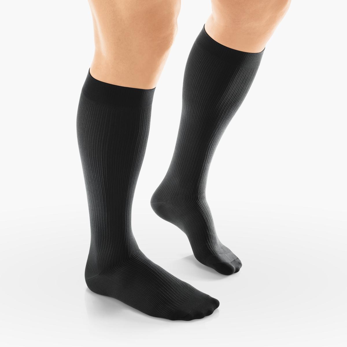 VENOSAN Sup F Men, Business, Below Knee 20-30, Black, M Firm 20-30 mmHg   Black   M      Closed Toe   Knit Top