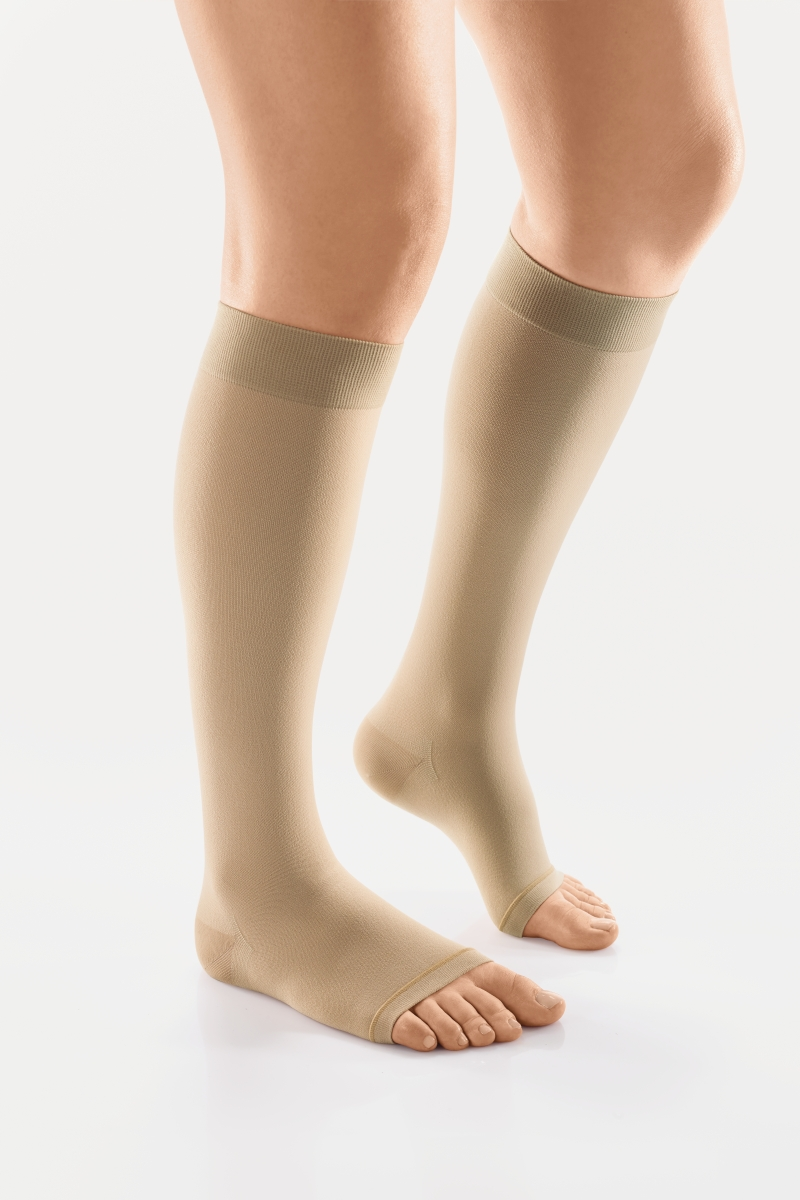 VENOSAN 6000 Below Knee, 15-20 Beige, XS, Long, Open Toe Moderate 15-20 mmHg | Beige | XS | Long | Open Toe | Knit Top